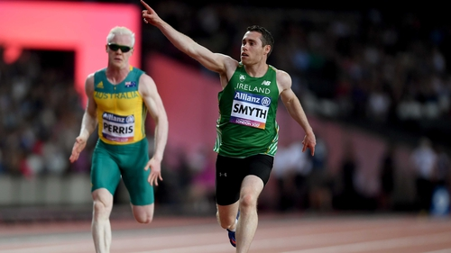 Jason Smyth won his fourth T13 100m World Para Athletics Championships gold medal in London on Sunday night
