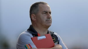 Carlow manager Turlough O'Brien on the sideline during Carlow's l