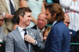 Eddie Redmayne and Bradley Cooper looked dapper in suits for the last day of Wimbledon 2017.