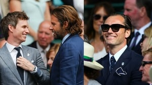 Eddie Redmayne, Bradley Cooper, Jude Law and many more high profile celebrities have been spotted attending Wimbledon this year.