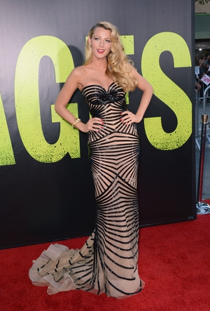 Blake Lively wore Zuhair Murad to the Premiere of  'Savages' in 2012