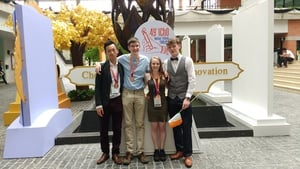 (L-R) Michael Hong, Diarmuid O'Donoghue, Alicia Huntley and Aaron Hannon at the 49th International Chemistry Olympiad in Thailand
