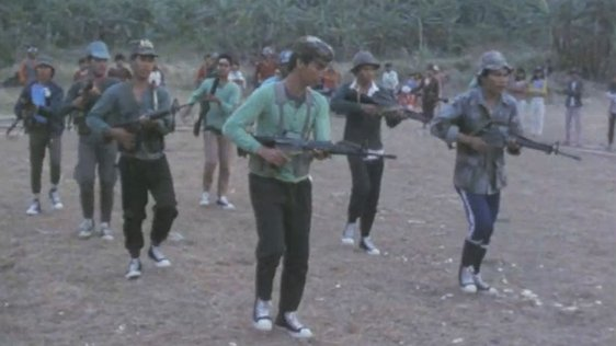 Members of the New People's Army training in Negros, Philippines (1987)