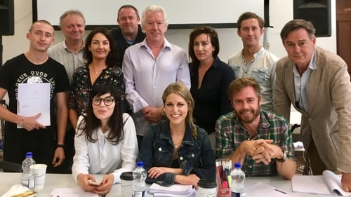 Cast of Striking Out at a read-through for the drama's second season