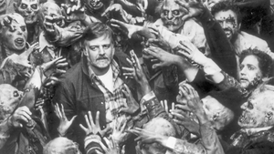 Writer-director George A. Romero, pictured on the set of his 1985 zombie epic Day Of The Dead.