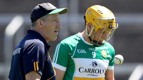 Kevin Ryan (L) will not seek reappointment as manager of the Offaly hurlers