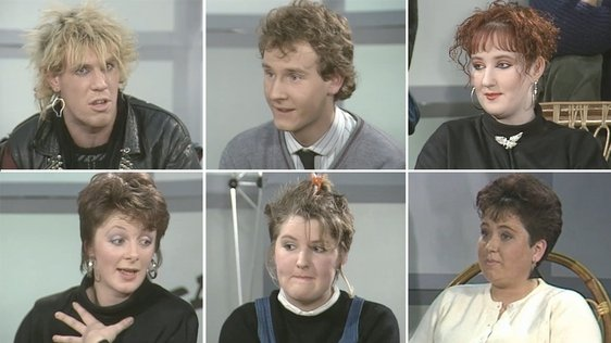 Panel of young people, 1987.
