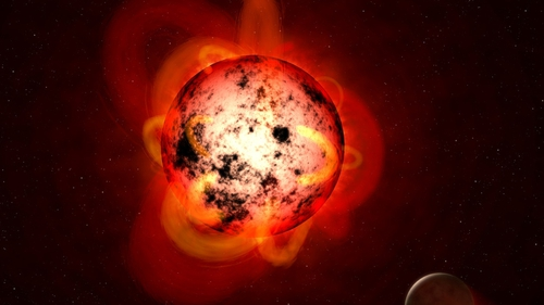 The red dwarf star at the centre of the mystery is Ross 128 (Pic: NASA - artist's impression)