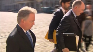 Paul Williams (L) on his way into the Disclosures Tribunal at Dublin Castle