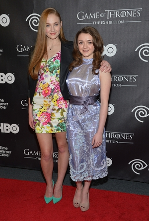 Mophie attended the 'Game Of Thrones' Exhibition in 2013 wearing florals and chiffon.