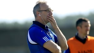 Laois manager Peter Creedon watching his side defeat Wicklow in Aughrim in June