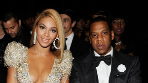 Beyoncé and husband Jay Z at the 2010 Grammys