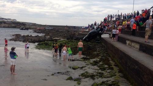 Kilkee Sunbathers Escape Injury After Car Rolls Towards Beach