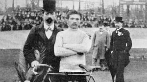 Maurice Garin (r) won the first ever Tour de France, in 1903