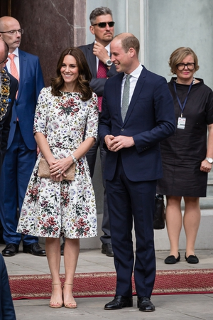Kate Middleton was spotted wearing a beautiful Erdem two-piece in Poland.