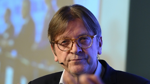 Guy Verhofstadt is expected to meet the Taoiseach during his visit