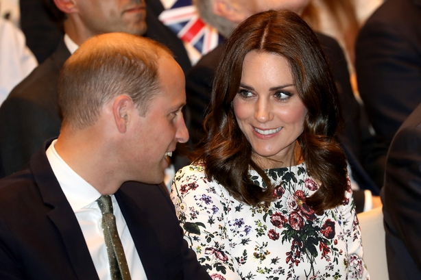 Catherine, Duchess of Cambridge and Prince William, Duke of Cambridge attend a reception inside the Gdansk Shakespeare Theatre
