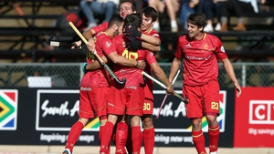 Spain celebrate reaching the semis in South Africa