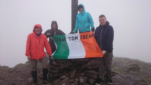 Team Tom Crean, training day summit of Carrauntoohil, Kerry.