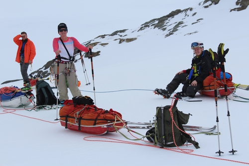 Rest stop during Shackleton Traverse.