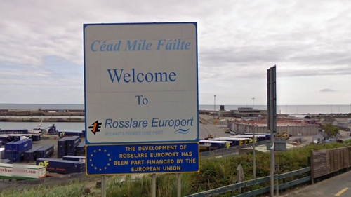 The people arrived at Rosslare Europort (Pic: Google Maps)