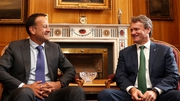 Taoiseach Leo Varadkar and Bank of America CEO Brian Moynihan