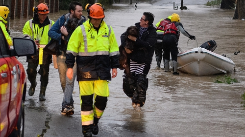 People are evacuated from their homes on the outskirts of Christchurch