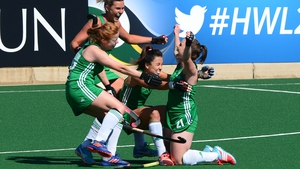 Lizzie Colvin is mobbed after putting Ireland in front