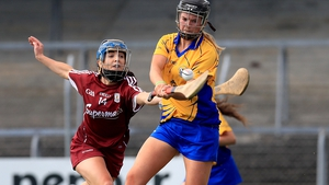 Clare's Laura Solon with Ailish O'Reilly of Galway