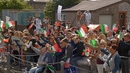 Crowds wait at Cork for the sailors to return