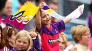 A young Wexford supporter gets behind her team