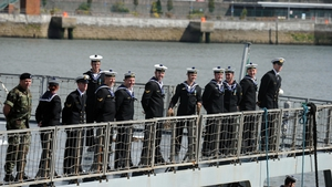 The crew of the LÉ Eithnetook partin anumber of rescue operations while deployed in the Mediterranean