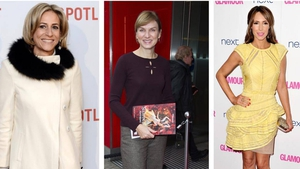 Newsnight presenter Emily Maitlis;  Antiques Roadshow's Fiona Bruce and The One Show's Alex Jones