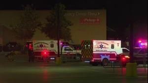 Ambulances attend the scene in San Antonio