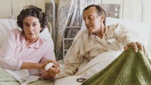 Patricia Knatchbull in hospital alongside her husband, John, in Sligo