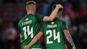 Kevin O'Connor (L) and Sean maguire are off to Preston North End