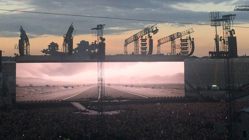U2 played a sold-out concert at Croke Park last night