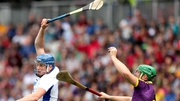 Austin Gleeson rises highest in the All-Ireland hurling quarter-final at Pairc Ui Chaoimh