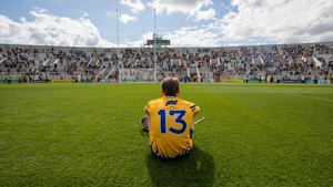 A dejected Shane O'Donnell following the quarter-final defeat to Tipperary