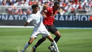 Anthony Martial in action last night against Real Madrid