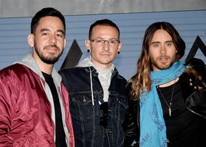 Mike and Chester of Linkin Park and Jared Leto of Thirty Seconds to Mars announce their new tour in 2014