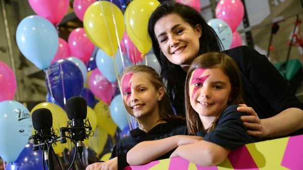 Alanna Ward, MayKay and Shona McGoldrick during the shoot for the Heroes charity single