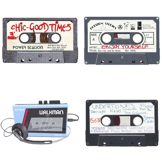 """Cassette vs Vinyl"", an exhibition by Horace Panter"