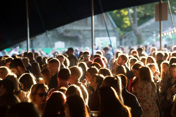 Crowds at Galway International Arts Festival