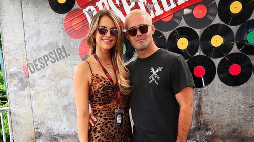 Vogue Williams shared this photo from their day at Longitude to her Instagram account
