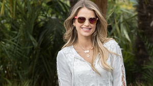 Vogue Williams at the launch of the Just Eat Retreat at Electric Picnic. Image: Naoise Culhane