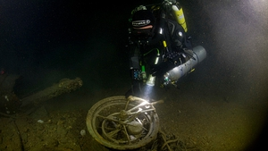 Divers recovered the telegraph machine from the sea bed