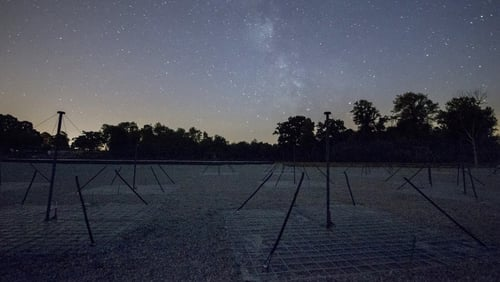 I-LOFAR with the Milky Way over head (Pic: I-LOFAR Intern Luis Alberto Canizares)