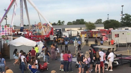 The incident happened on the opening day of the Ohio State Fair