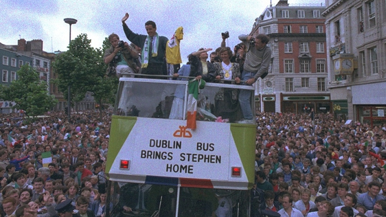 Hero's Welcome For Stephen Roche